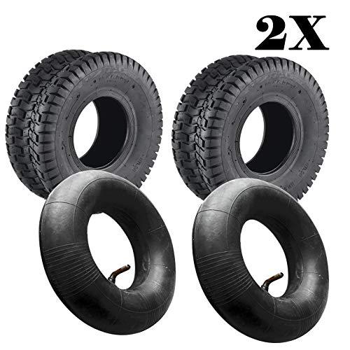 JUEYAN 2 Stück Rasen Rasenmäher Reifen 15 x 6.00-6 TL 2PR Reifen für Rasentraktor Aufsitzmäher Rasenmäherreifen inkl. Schlauch - 15 Reifen
