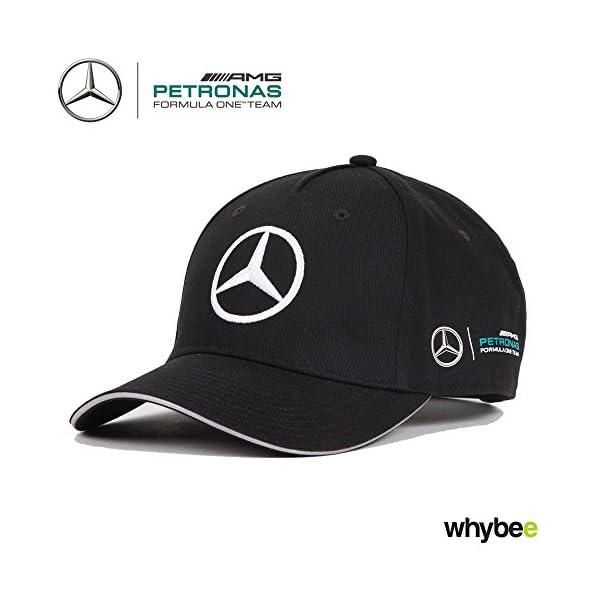 2017 Mercedes-AMG F1 Formula 1 BLACK Team Cap by Hugo Boss Adult One ... ada774bf7dd