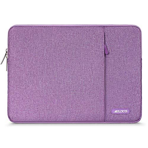 MOSISO Hülle Kompatibel mit 9,7-11 Zoll iPad Pro, iPad 7 10,2 2019, iPad Air 3 10,5, iPad Pro 10,5, Surface Go 2018, iPad 1/2/3/4/5/6 Wasserabweisende Polyester Vertikale Laptoptasche, Licht Violett