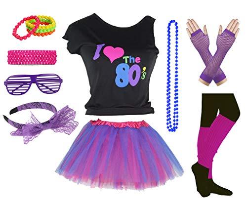 Mädchen, ich Liebe die 80er Jahre Disco T-Shirt für 1980er Jahre Thema Party Outfit