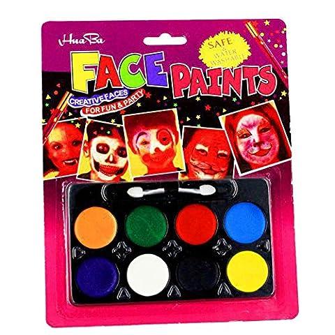 Butterme Professionelle Gesicht Körper Farben Öl 8 Farben DIY Body Painting Kunst Halloween Partei-Abend Set Make Up