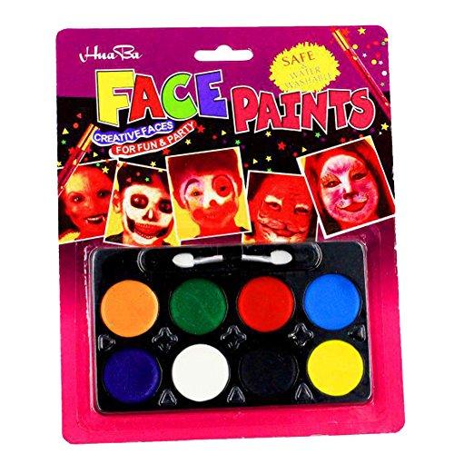 (Butterme Professionelle Gesicht Körper Farben Öl 8 Farben DIY Body Painting Kunst Halloween Partei-Abend Set Make Up)
