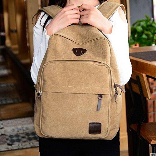 GOUQIN Outdoor Rucksack Klassische Mode Die Schultern, Canvas Tasche Auf Dem Pc-Paket Studenten Leisure Travel Pack Ihre Schultaschen Blau