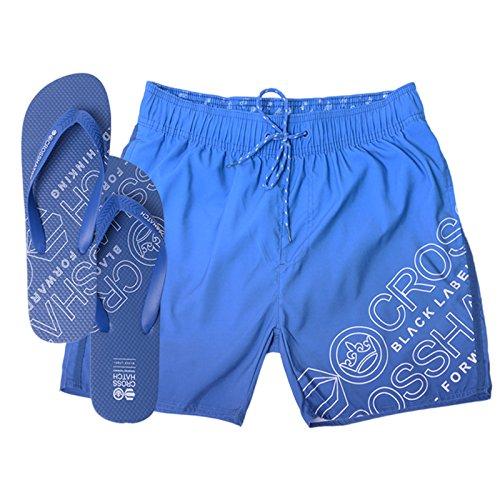 Crosshatch - Short de bain - Droit - Homme bleu bleu Small Makins - Monaco Blue