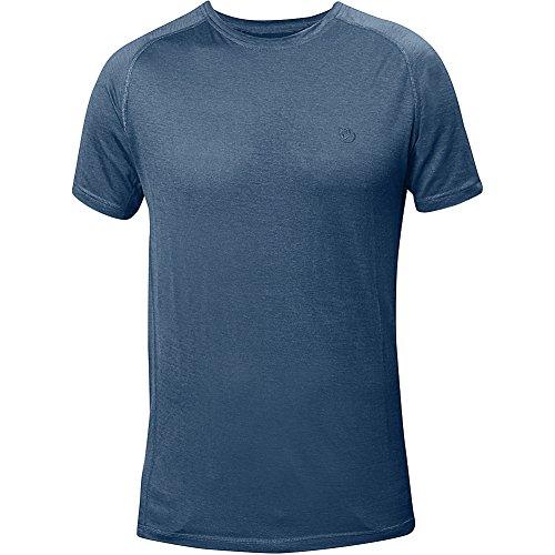 Fjällräven Herren Abisko Trail T-Shirt uncle denim blue 520