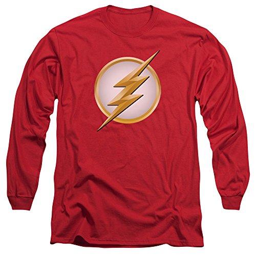 Flash Herren Langarmshirt Rot