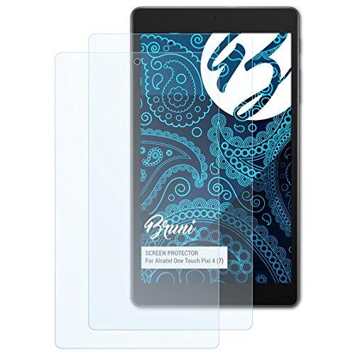 Bruni Schutzfolie kompatibel mit Alcatel One Touch Pixi 4 (7) Folie, glasklare Bildschirmschutzfolie (2X)