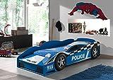 Vipack Autobett Police Car, 70 x 140 cm, blau lackiert