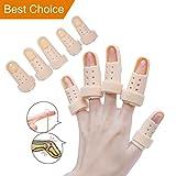 Sumifun doigt extension Attelle pour déclencheur pour le doigt, doigt Attelle de Maillet, doublé en mousse, malléable métallique Attelle pour Aligner et Stabiliser le Fractured