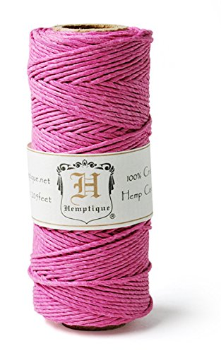 Hemp Cord Spool 20# 205'/Pkg-Bright Pink -