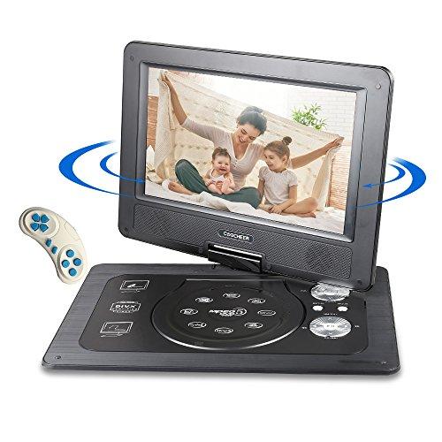 Hinweis Blue Ray (DVD Player Auto Tragbarer, Reise Auto Rücksitz DVD Player with Game Controller and CD, schwenkbaren Bildschirm, unterstützt SD-Karte und USB, 1024*600 Pixels, mit Auto-Ladegerät-Schwarz)