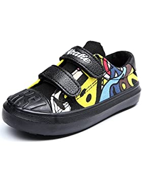 Alexis Leroy Karikatur Kinderschuhe Low-Top Velcro Stoffschuhe Sneakers
