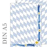 Bayern Raute und Edelweiß Briefpapier Motivpapier beidseitig bedruckt 50 Blatt ACHTUNG: Format DIN A5 90 g/m² 5802-A5