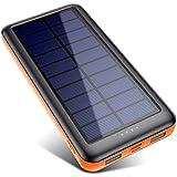 Power Bank Solare 26800mAh, Caricabatterie Solare Portatile【3 Ingresso e 2 Uscite】Pxwaxpy Grande Capacità Caricatore Solare B