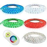 12m LED Strip LED Streifen LED Band RGB Farbig mit 60x 5050 SMD Pro. Meter - Silikonüberzogen - mit Touch Fernbedienung - Komplett Set