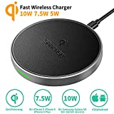 Fast Wireless Charger 10W 7.5W Qi Zertifizierung für iPhone XS XS Max XR X iPhone 8 Plus 8 Kabellose Ladegerät Samsung Galaxy S9 S9 Plus S8 S8 Plus Schnellladestation Kabellose Ladestation