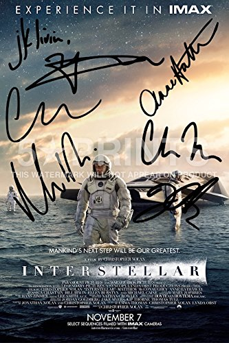 interstellar-poster-photo-print-12x8-signed-pp-cast-matthew-mcconaughey-christopher-nolan-matt-damon