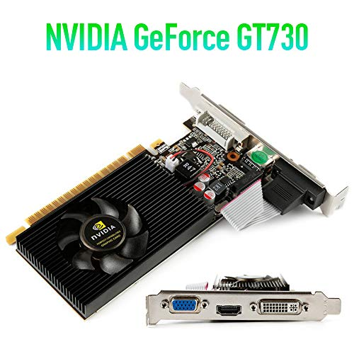 ZHONGLI NVIDIA Graphics Card - Original GT730 2GB SDDR3 Video Cards for NVIDIA GeForce GPU Games DVI VGA HDMI Used Cards for Computer Men Teens