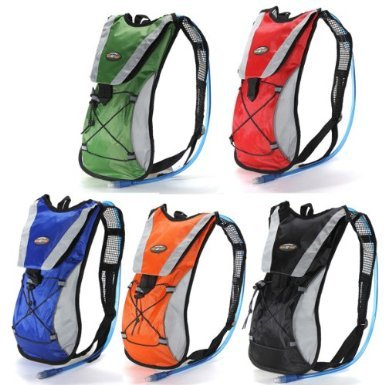 Red Hydration Pack Water Rucksack Backpack Cycling Bladder Bag Hiking Climbing Pouch(Hydration Bladder NOT Included)