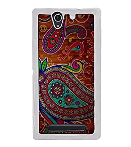 Fuson Designer Back Case Cover for Sony Xperia C3 Dual :: Sony Xperia C3 Dual D2502 (artistic work painting beautiful india)