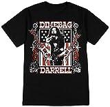 Yustery Dimebag Darrell Men's Guitars Flag T-shirt Black