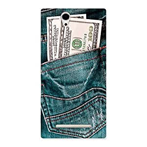 Special Full Dollar Jeans Back Case Cover for Sony Xperia C3