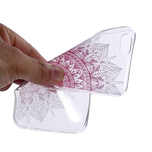 Cover iPhone 6S Plus Morbido, Ronger Custodia iPhone 6 Plus Trasparente Stile TPU [Nuovo Modello] [Cristalli Liquidi] Cover del Telefono Mobile Ultra Sottile Slim Paraurti Silicone Resistente ai Graff Fiore Totem