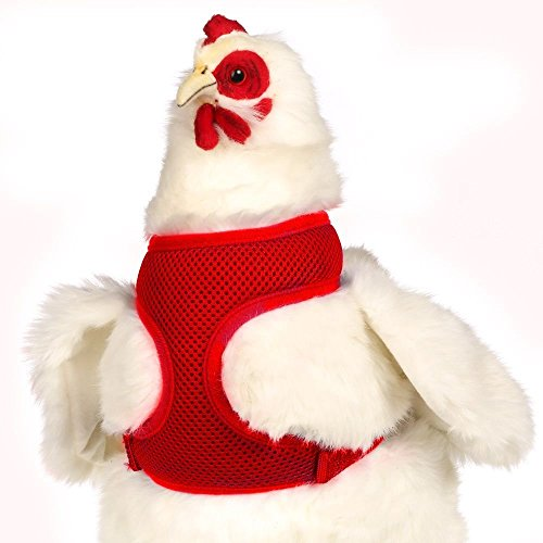 Valhoma Chicken Harness Adjustable Durable Breathable Mesh Hen Size Red 13