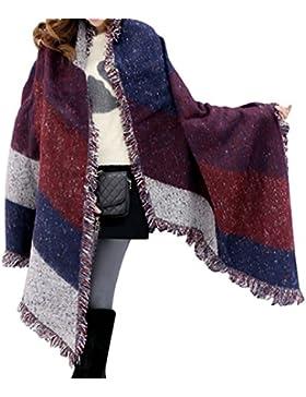 Heekpek® Donne Ragazze Moda Autunno Inverno Caldo Plaid Sciarpa Scialle Morbido Avvolge Lungo Sciarpe
