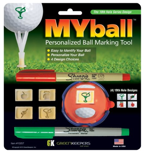 Green Keepers MYball - Man's Best Friend Unisex Adult Ball Marking System - Multicoloured,