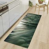 Modern Küchenläufer Grünes Gras Gruppe 7 MM Dicke Küchenmatten Schlafzimmer Teppich Anti-Müdigkeit Fußmatten,60x180CM