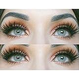 Glamlens lentilles de couleur grises naturelles colorées très haute opacité Jasmine Gray + étuis à lentilles de contact I 1 p
