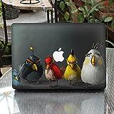 Cinlla® Vogel Laptop kompletter Satz Aufkleber Notebook Fullset Skin Sticker Decal Schutzfolie für Apple Macbook Pro 13