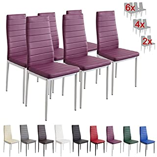 Albatros 2708 MILANO dining chairs, set of 6, violett, SGS tested