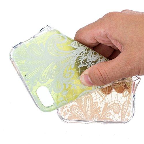 Cover iPhone 7, Custodia iPhone 7, Sunroyal® 3D Creativa Cover Ultra Sottile Trasparente TPU Gel Silicone Morbido Flessibile TPU Gel Protettivo Skin Caso Custodia Protettiva Shell Case Cover Per iPhon Pattern 11