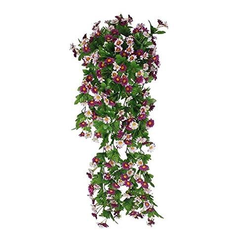 Guirlande Marguerite Glycine Artificielle Fleur Décoration Murale