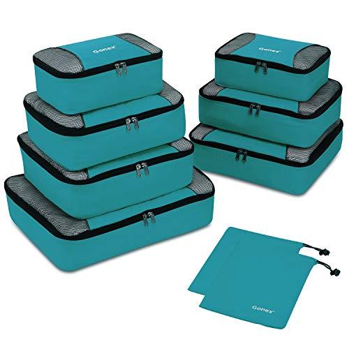 Gonex Organisateurs de bagage Sacs rangement de valise Voyage 10 pcs Bleu-vert