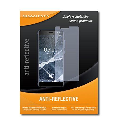 SWIDO Schutzfolie für Nokia 5.1 [2 Stück] Anti-Reflex MATT Entspiegelnd, Hoher Härtegrad, Schutz vor Kratzer/Bildschirmschutz, Bildschirmschutzfolie, Panzerglas-Folie