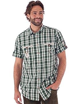 orbis Textil OS-Trachten Trachtenhemd Kurzarm Eddi Grün