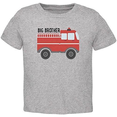 Old Glory Big Brother Feuerwehrwagen Kleinkind T-Shirt Heather 2T (T-shirt Kleinkind Jungen Graphic)