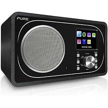 pure evoke f3 dab dab radio fm wlan internet radio bluetooth telecomando incluso nero. Black Bedroom Furniture Sets. Home Design Ideas