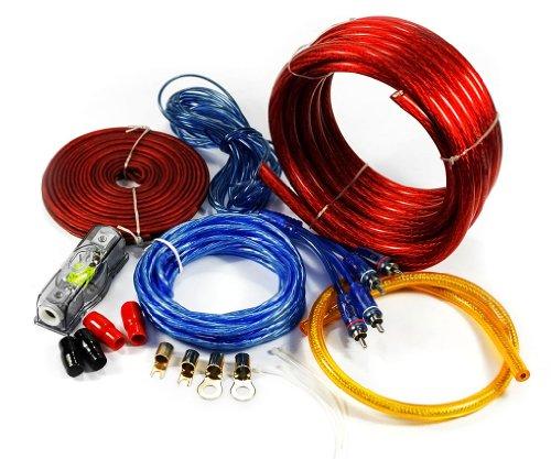 Kit de Câblages Amplificateur de voiture / AMP Câblage Fusible Audio du Sonore Cables RCA 2500W