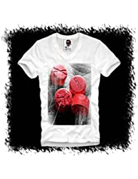 E1SYNDICATE V-NECK T-SHIRT XTC RED DEFQONS DANCE MDMA ECSTASY TUNE IN RAVE S-XL