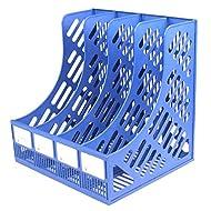 LAHAUTE Ordnerregal Büro box Aufbewahrungskiste Space box Regal aus Kunststoff A4-Format,Blau,ca.31*26*30cm