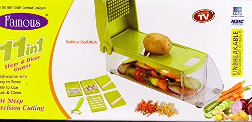 Famous 11 In 1 Vegetable & Fruits Cutter, Slicer, Dicer Grater & Chopper, Peeler