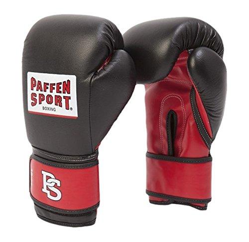 Paffen Sport Boxhandschuhe ALLROUND ECO (Schwarz / Rot, 12 oz)
