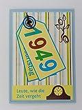 Kartenkunst 5x Fröhliche Einladungskarten zum 70. Geburtstag *1949*Handmade*