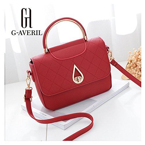 G-AVERIL, Borsa a zainetto donna Dark grey Red