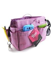 Periea Organiseur de sac à main, 13 Compartiments + mousqueton, 2 Couleurs - Chrissy