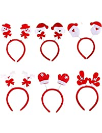 Vococal® 6 Pcs Accessoires de Cheveux de Noël Bébé Enfant Filles Adultes Noël Coiffure Cheveux Bande Noël Bandeaux Décoratifs Style Aléatoire
